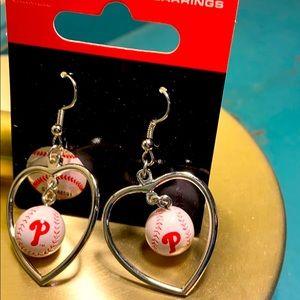 Philadelphia Phillies Baseball earrings